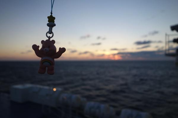 船上でのチアベア