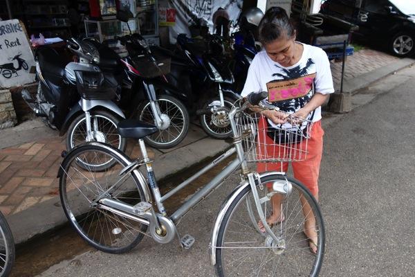 ヴィエンチャンのレンタル自転車