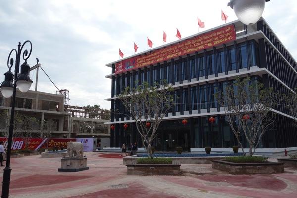ヴィエンチャンの中国系建設物