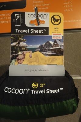 コクーントラベルシーツ(cocoon Travel Sheet)はタイで買える。