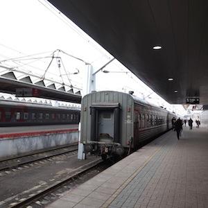 ロシアのモスクワで鉄道切符を買う。